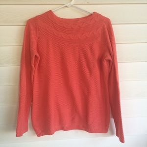 Croft and Barrow Women's Small Orange sweater